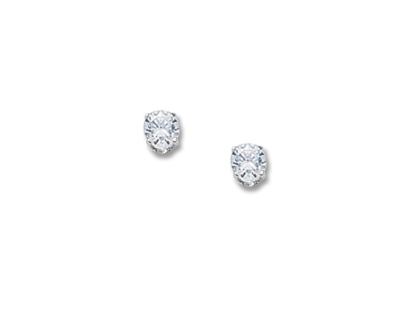 CARLA  -  White 14 Karat One Ctw Cubic Zirconia Stud Earrings   01/951W by Carla Corporation