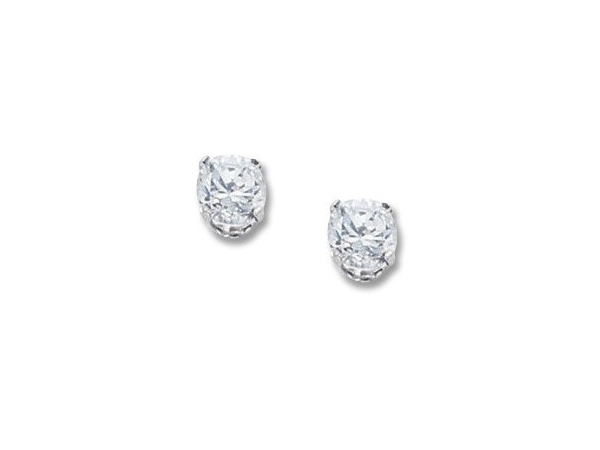 White 14 Karat 1.75Tw CZ Stud Earrings, by Carla Corporation