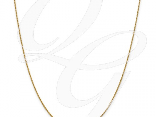Yellow 14 Karat 1.3mm Pendant Rope Chain Length 18 by Leslie