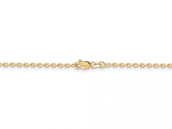 "14 Karat Yellow  2mm Solid Cable Link Chain, Length 18"". by Leslie"