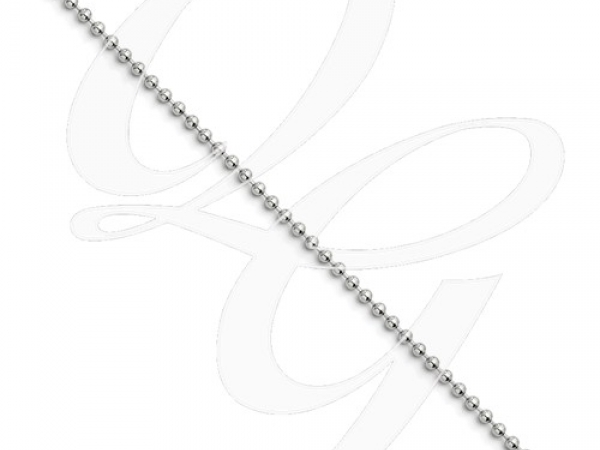 "Stainlesssteel 2mm Dog Tag Style Chain 20"" by Leslie"