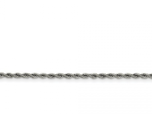 Stainlesssteel 2 3mm Rope Chain Length= 24